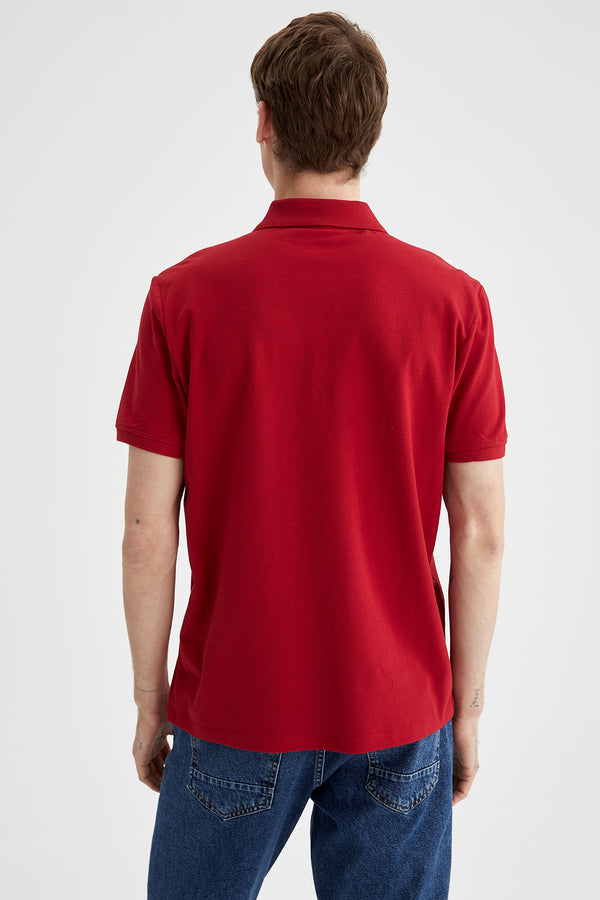 Regular Fit Polo T-Shirt - Bordeaux