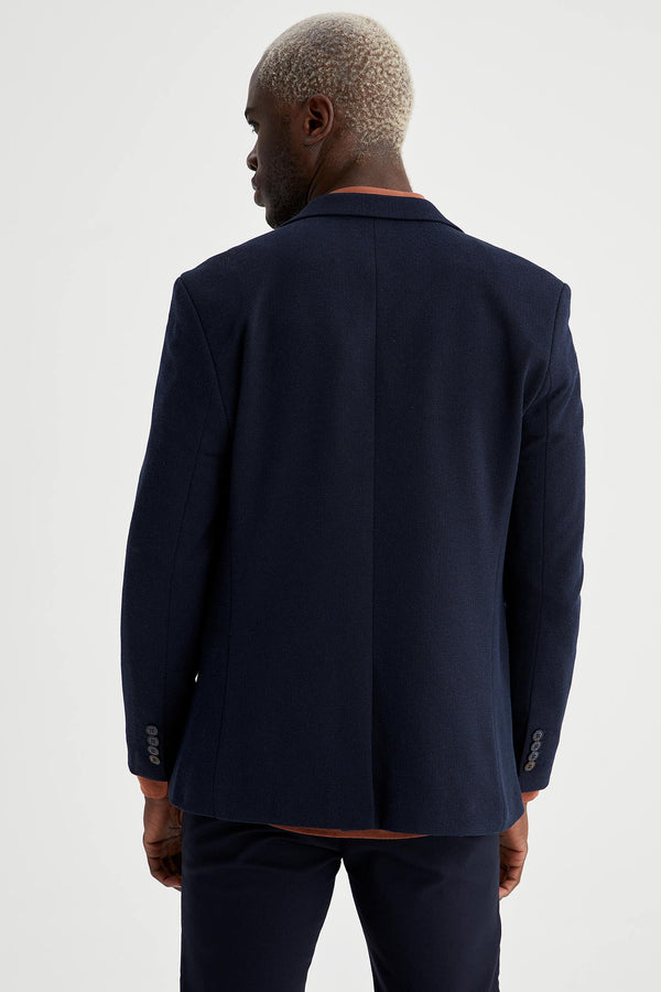 Slim Fit Blazer - Navy