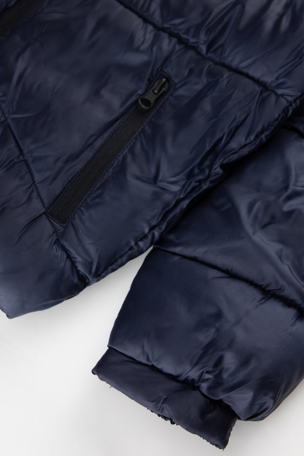 Regular Fit Coat - Navy