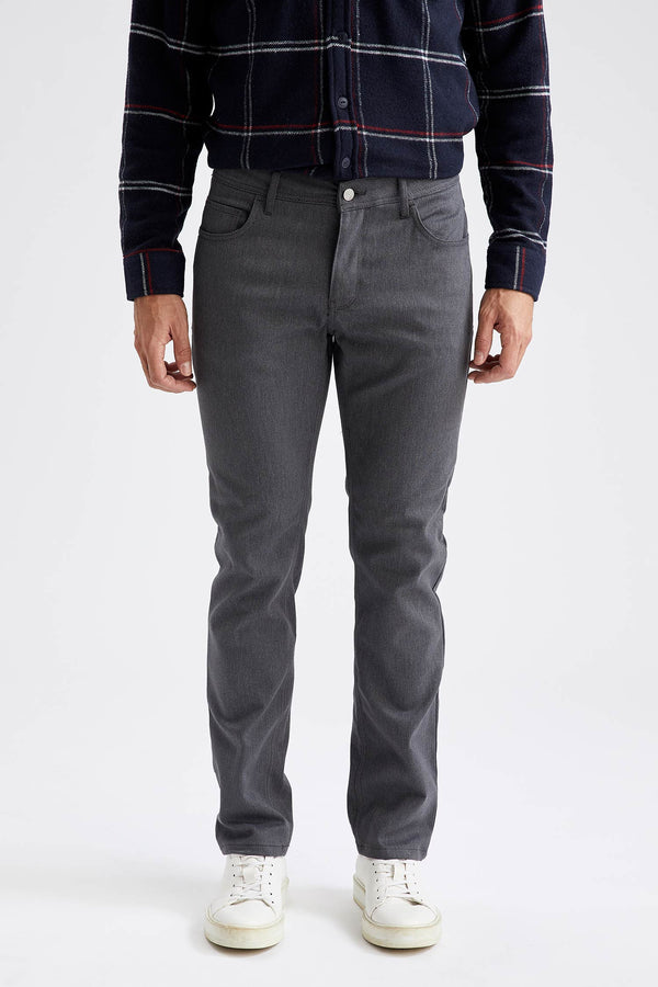 Regular Fit Woven Trousers - Anthracite