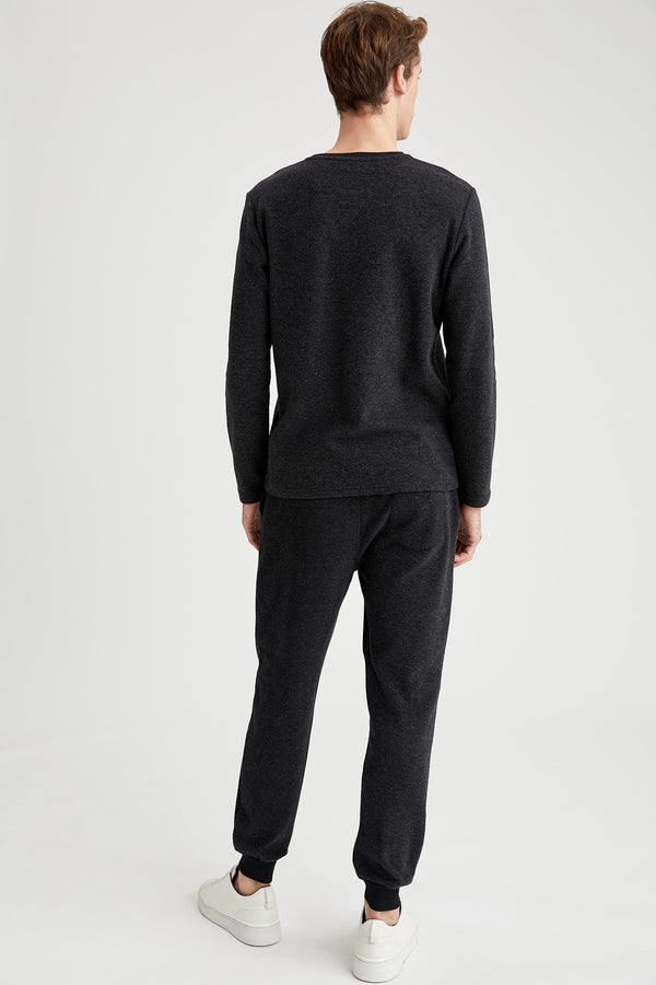 Slim Fit Knitted Trousers - Anthracite