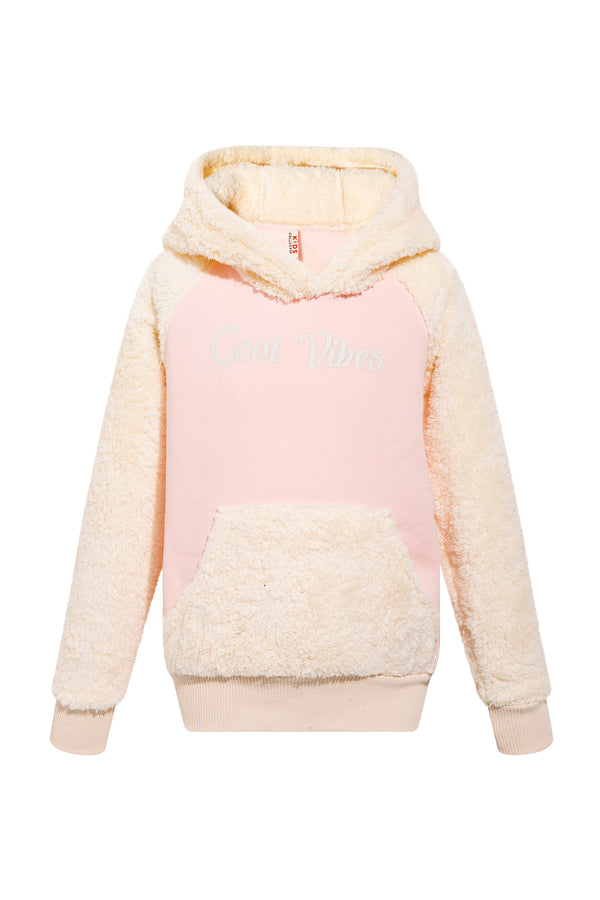Regular Fit Hooded Sweatshirt - Pink