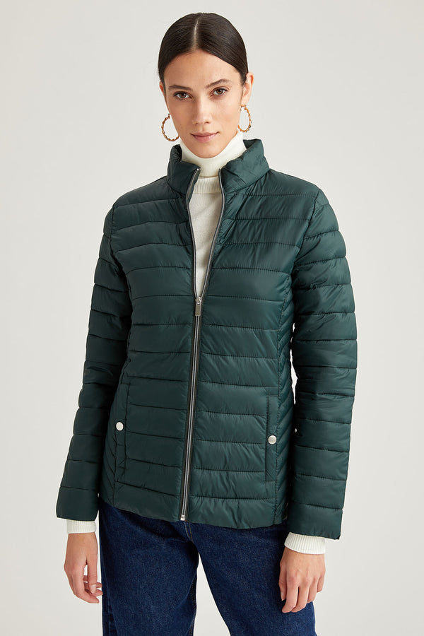 Regular Fit Coat - Green