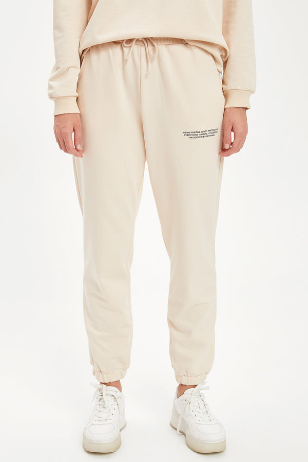 Regular Fit Sweatpants - Ecru