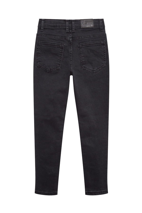 Skinny Fit Regular Waist Regular Hems Jeans - Black