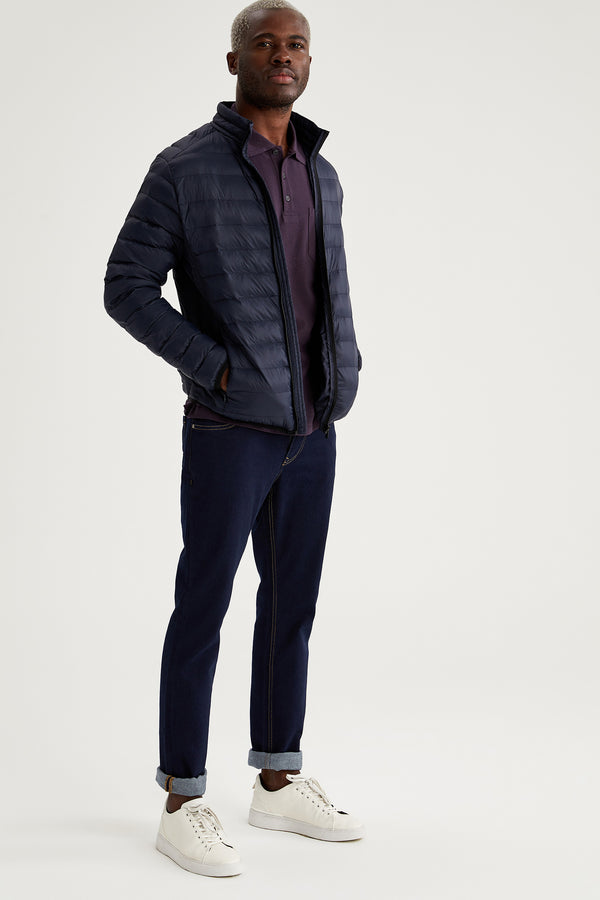 Slim Fit Coat - Navy