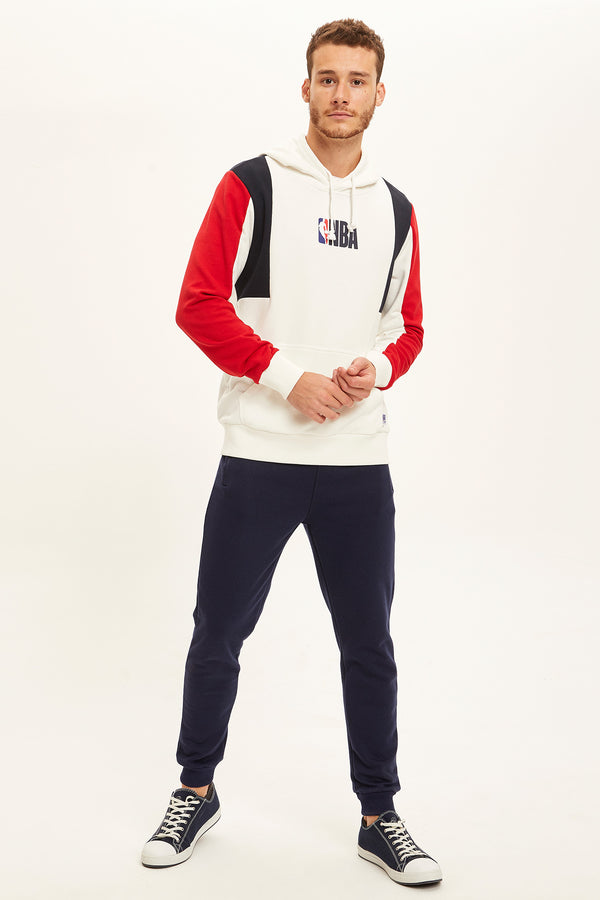 Slim Fit Rib Hems Knitted Trousers - Navy