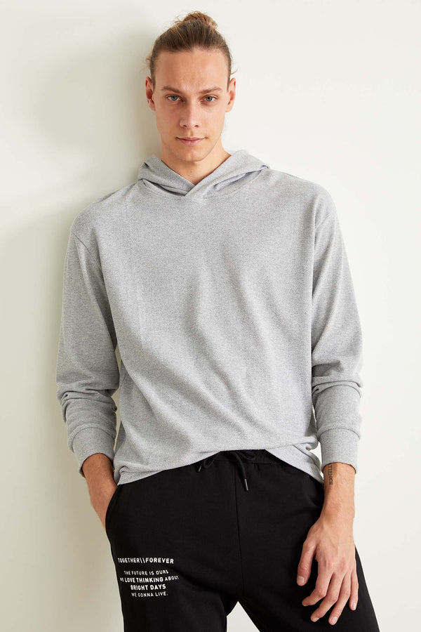 Oversize Long Sleeve Knitted Body - Grey
