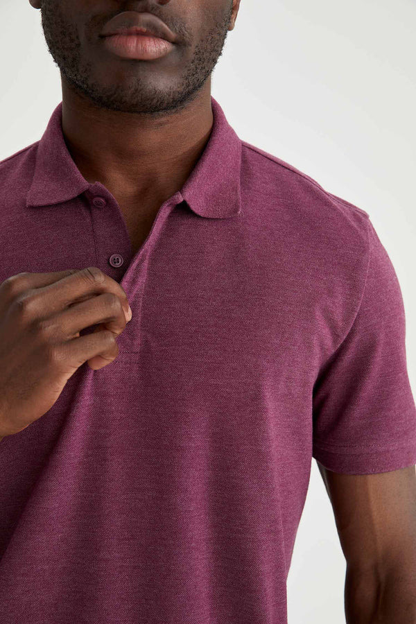 Regular Fit Polo T-Shirt - Purple