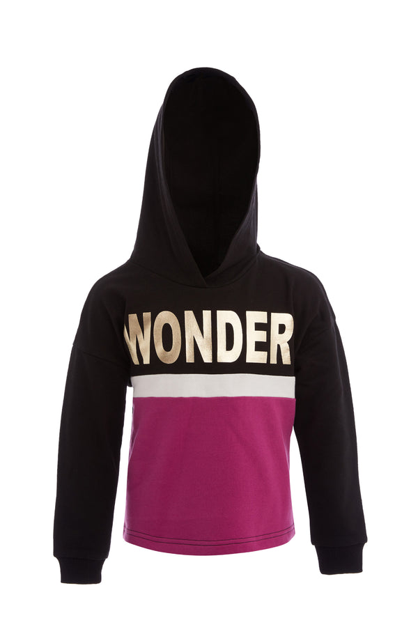 Crop Hooded Sweatshirt - Black