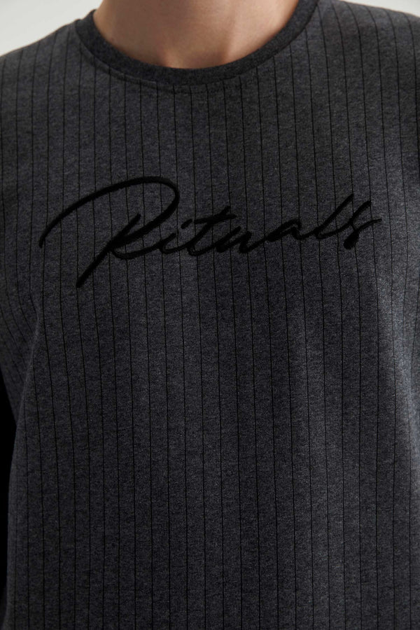 Regular Fit Crew Neck Sweatshirt - Anthracite