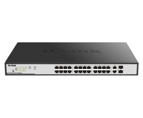 D-Link 24-port UTP 802.3af PoE & 802.3at PoE+ 10/1
