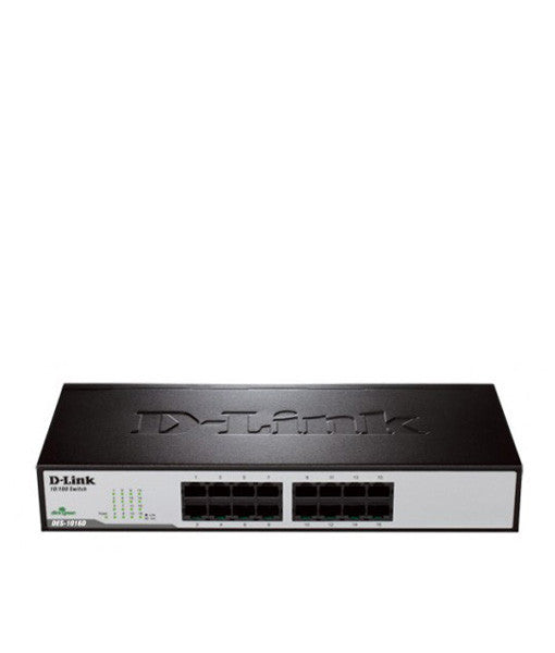 D-Link 16-port 10/100Mbps Unmanaged Switch (Metal, Rackmountable)