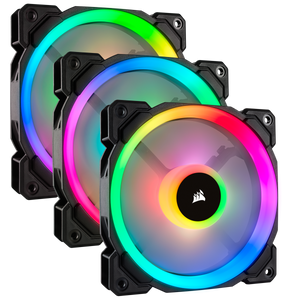 Corsair LL120 RGB 120mm Dual Light Loop RGB LED PWM 3 Fan Pack with Lighting Node PRO