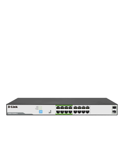 D-Link D-Link 250M 16 1000Mbps PoE Switch with 2 SFP Ports