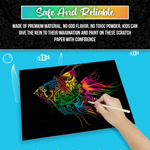 Rainbow Scratch Art Paper