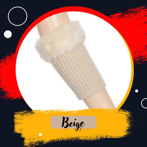 Faux Fur knitted Boot Cuff