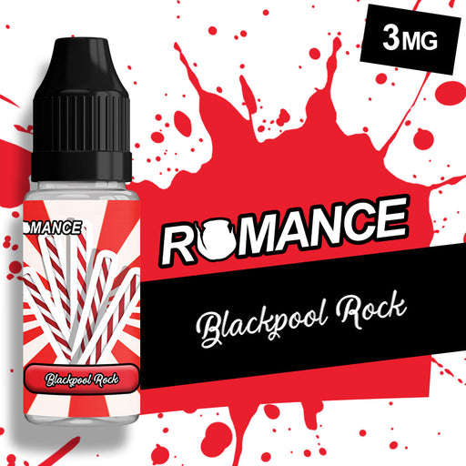 Romance Blackpool Rock 10ml e-liquid 50/50 Vg/Pg