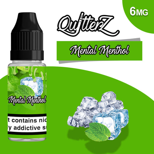 QuitterZ Mental Menthol 10ml e liquid High PG 70Pg 30Vg