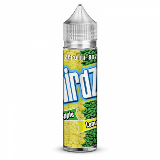 Nirdz Sour Apple Lemon 0 nicotine e-Liquid 80/20 VG/PG 50ml