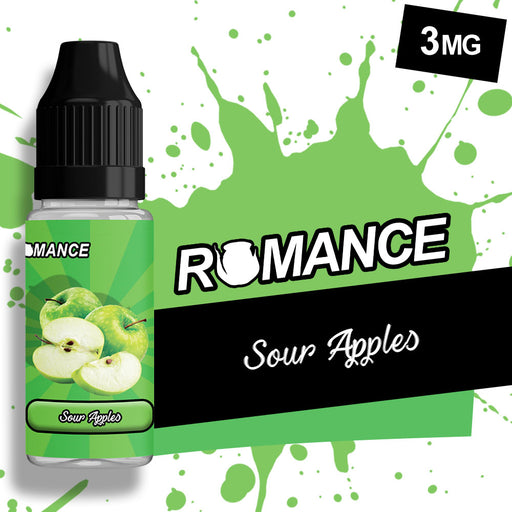 Romance Sour Apple 10ml e-liquid 50/50 Vg/Pg