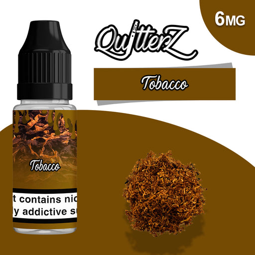 QuitterZ Tobacco 10ml e liquid High PG 70Pg 30Vg