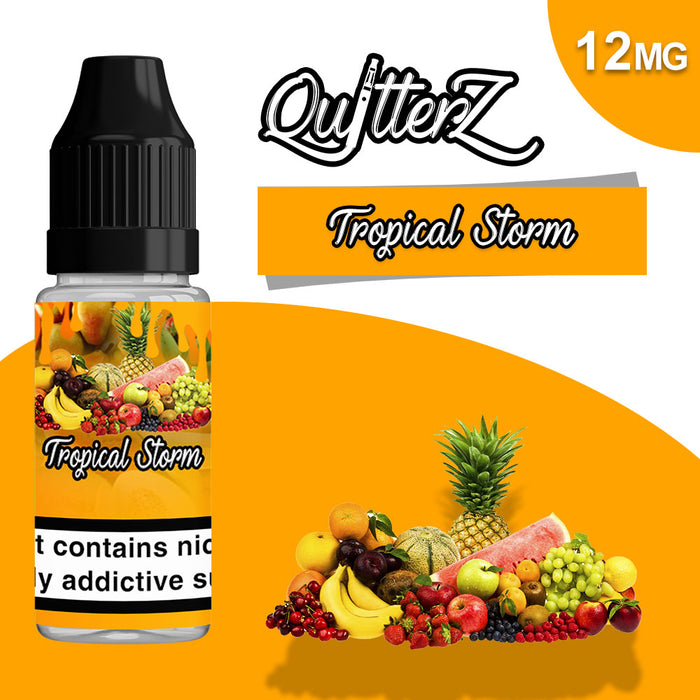 QuitterZ Tropical Storm 10ml e liquid High PG 70Pg 30Vg