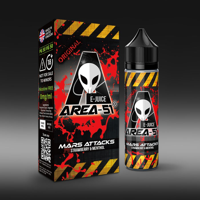 Area 51 Mars Attacks 50ml Shortfill e Liquid