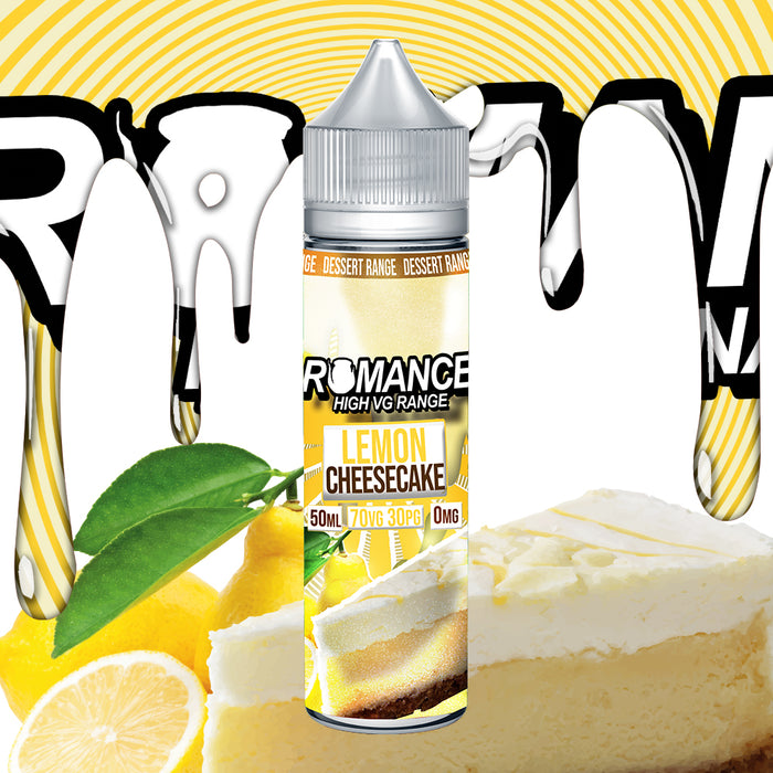 Romance Lemon Cheesecake 50ml Shortfill e-liquid 70/30 Vg/Pg