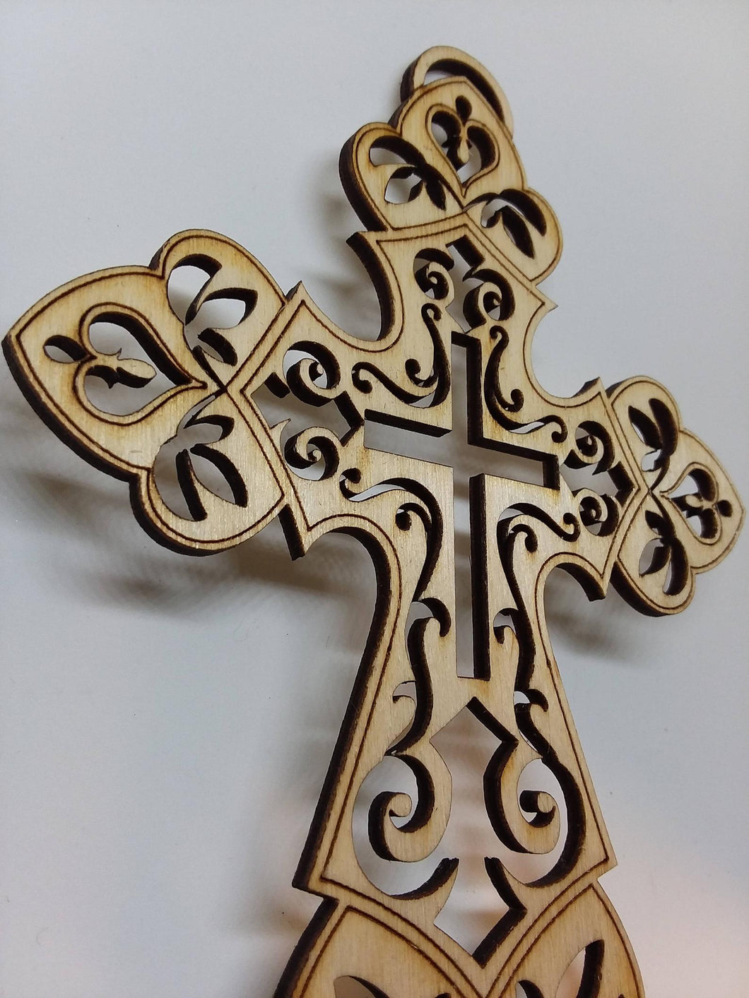 Laser-Cut Wooden Cross