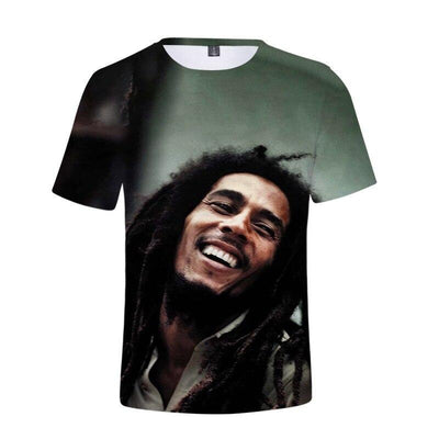 T-shirt Bob Marley smile for life <BR> Rastafari Market®