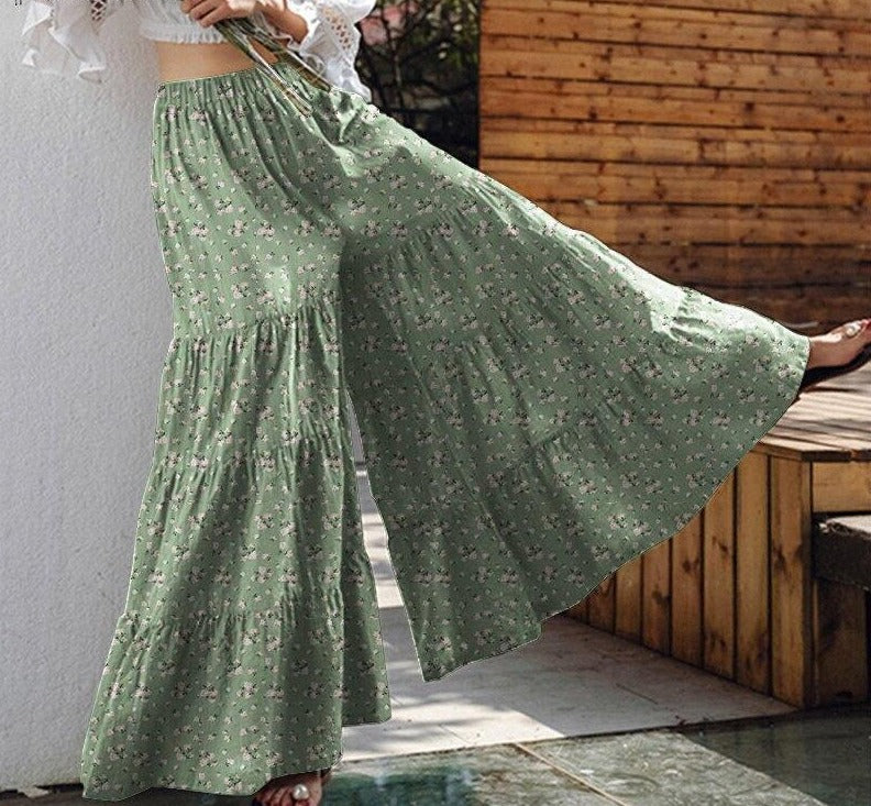Vintage Women's Wide Leg Trousers ZANZEA 2020 Solid Pants Casual Elastic Waist Long Pantalon Palazzo Female Plus Size Turnip - rastafarimarket
