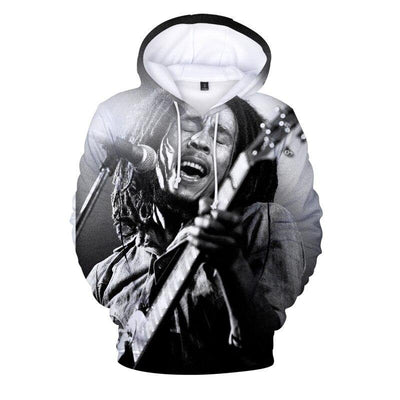 Women Men 2020 Winter Bob Marley Fashion Lady Male 3d Hoodies Top Sweatshirt Ladies Coat Men's Graphic Hooded Hoody Streetwear - rastafarimarket
