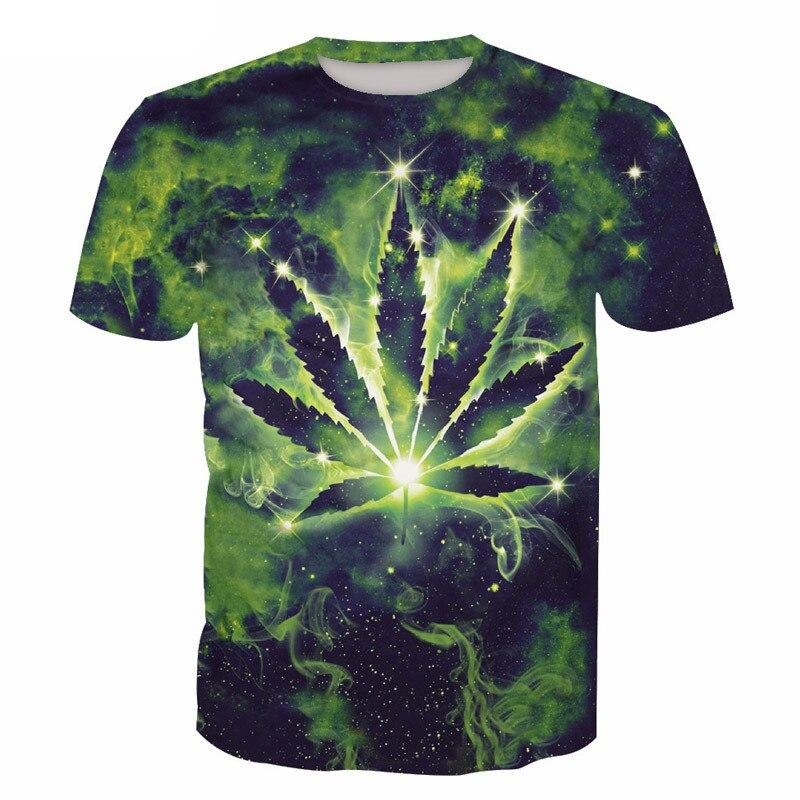 t shirt Smoke Weeds space ganja <br>3D Digital Print <br>Rastafari Market®