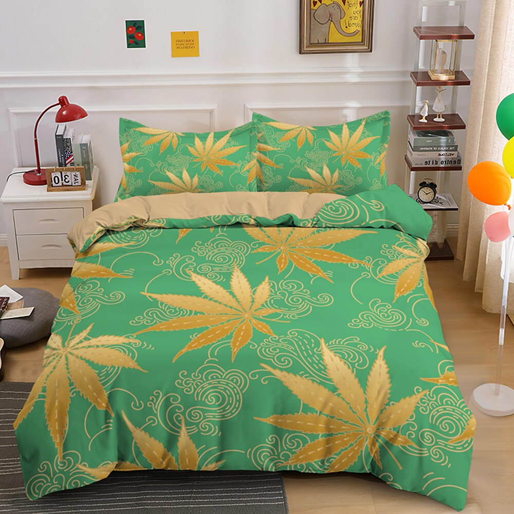 HOUSSE DE COUETTE GOLDEN FOREST<BR>Rastafari Market®
