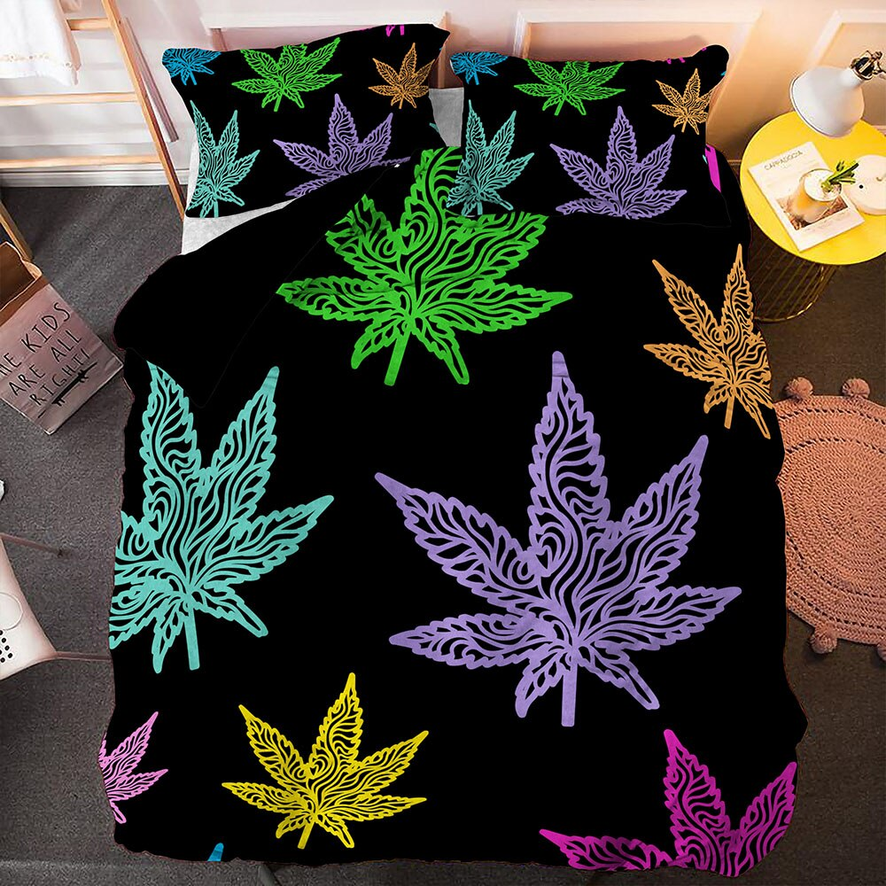 HOUSSE DE COUETTE COLOR DREAM WEED<BR>Rastafari Market®