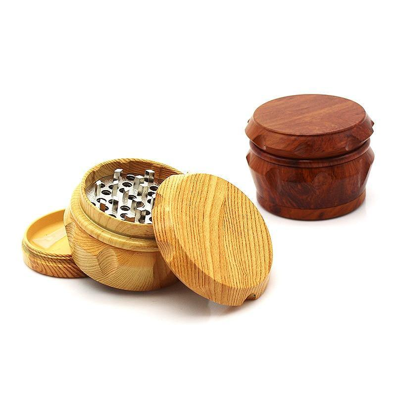 New Arrival Wooden Herb Grinder 63 MM 3 Layers Spice Herb Grinder with Metal Teeth Weed Herb Tobacco Grinder Party Gifts - rastafarimarket
