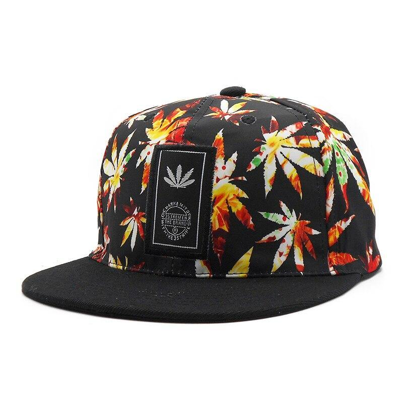 CASQUETTE WEED <BR> ORANGE - Rastafari Market®
