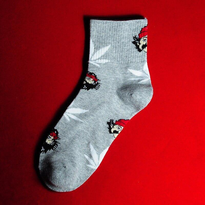 Chaussettes skater <br> grise <br> style weed - Rastafari Market®