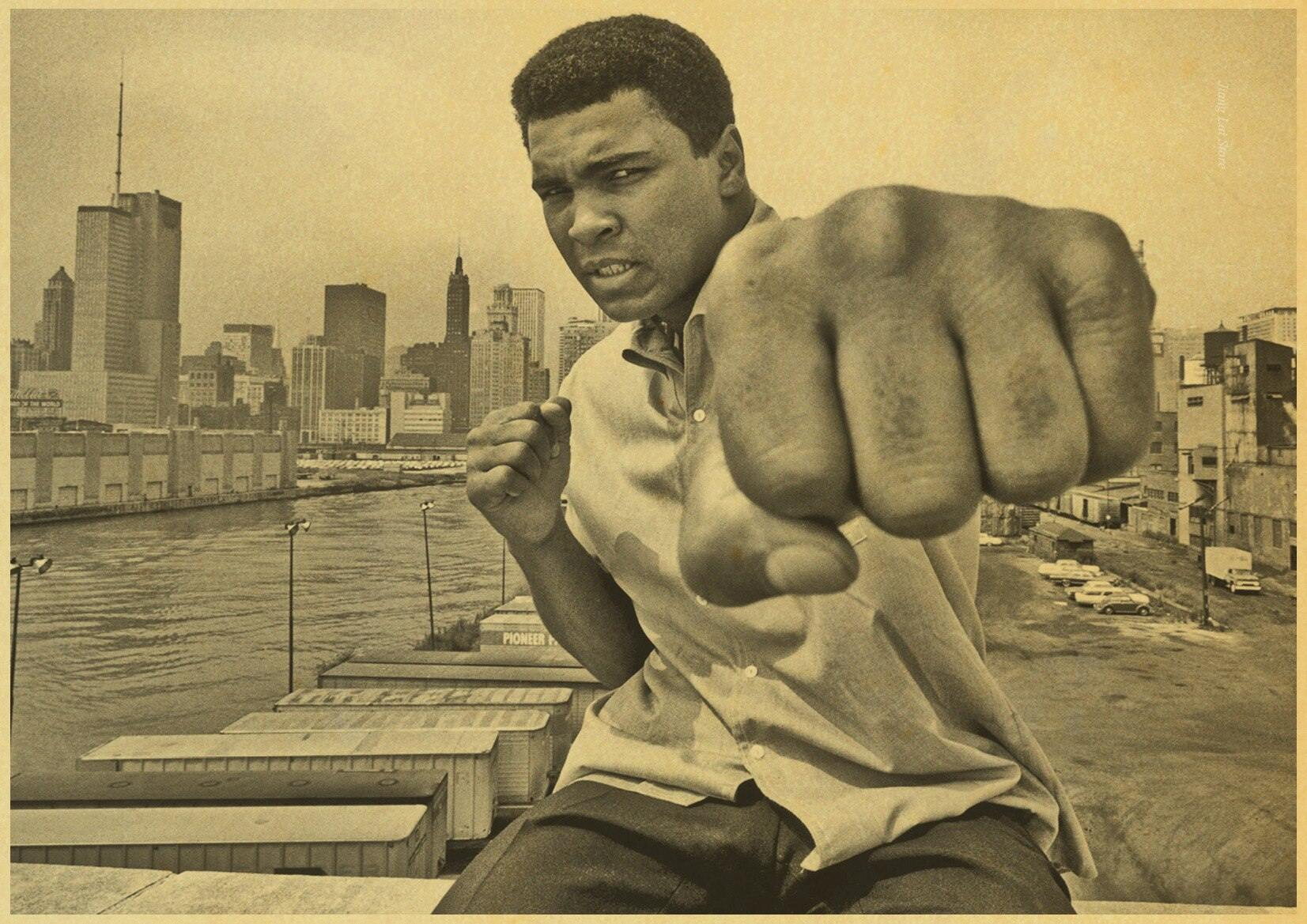 affiche mohamed ali <br>photo vintage new york