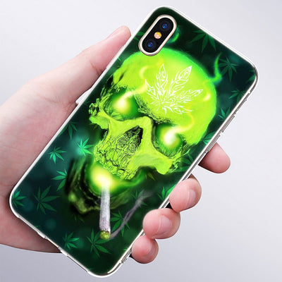 coque iphone  weed pop<br> skull smoke weed