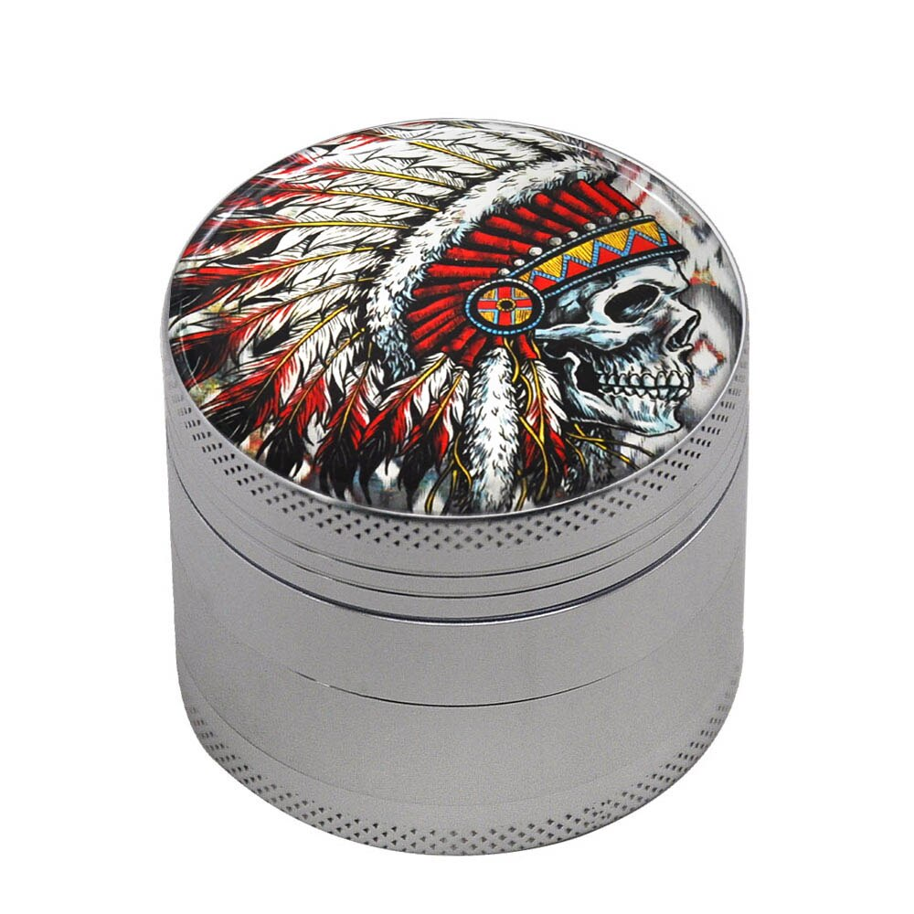Grinder 50mm INDIANA SKULL <br>high et fines<br> Rastafari Market®