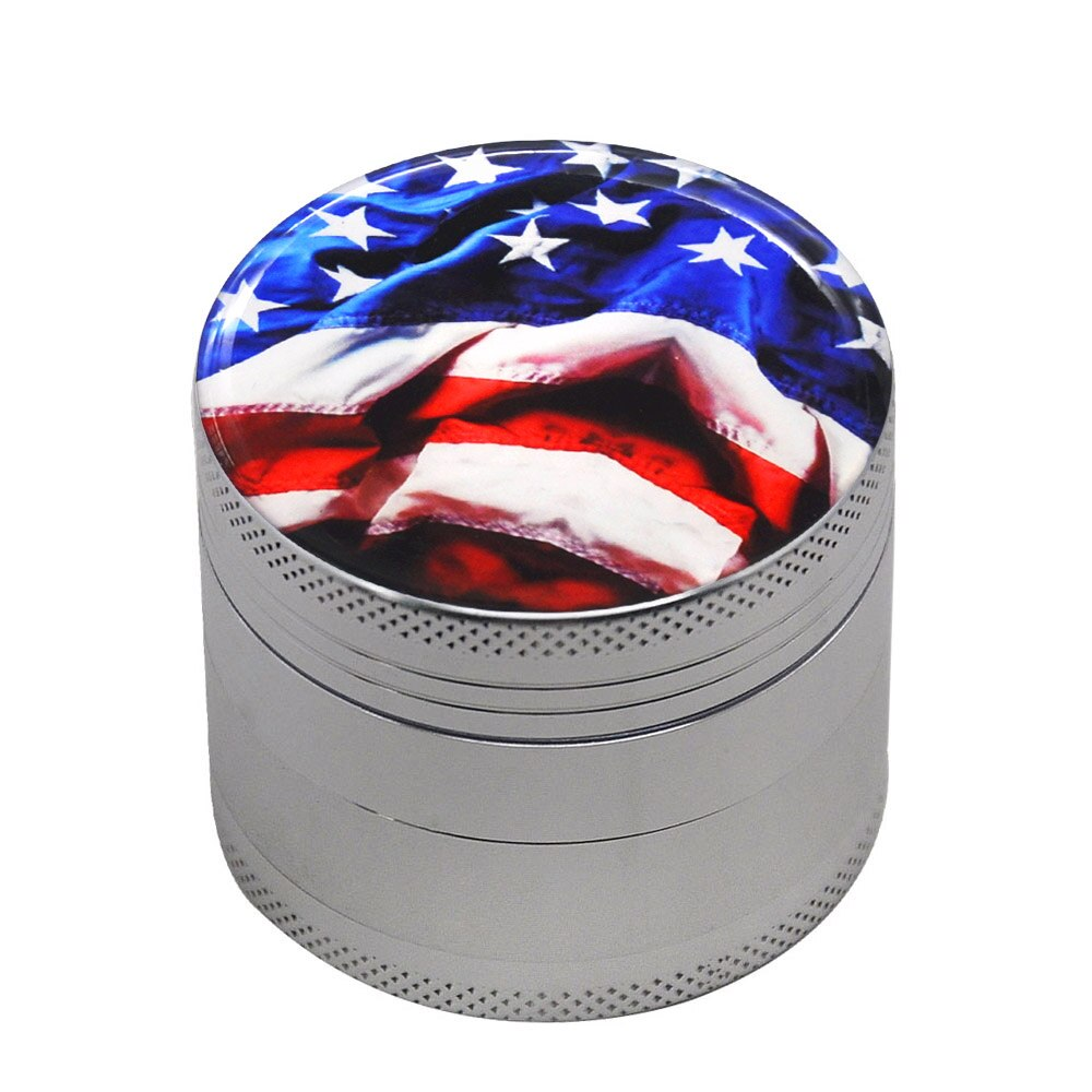 Grinder 50mm american flag<br>high et fines<br> Rastafari Market®