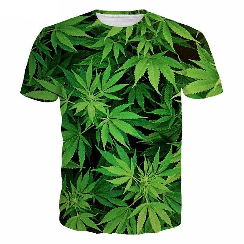 t shirt Smoke Weeds green forest<br>3D Digital Print <br>Rastafari Market®