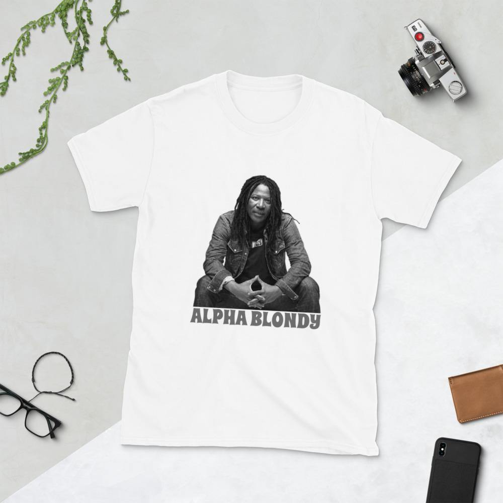 T-shirt alpha blondy <br> Unisexe à Manches Courtes - Rastafari Market®