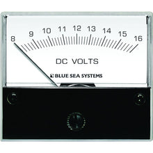 "Load image into Gallery viewer, Blue Sea 8003 DC Analog Voltmeter - 2-3/4"" Face, 8-16 Volts DC [8003]"