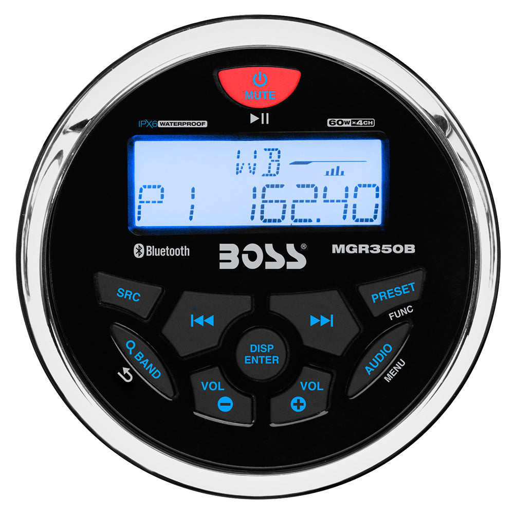 Boss Audio MGR350B Marine Gauge Style Radio - MP3/AM/FM/RDS Receiver [MGR350B]
