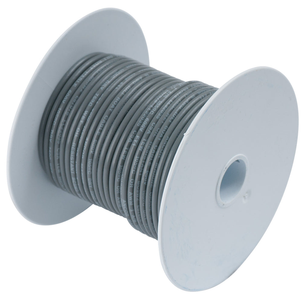 Ancor Grey 14 AWG Tinned Copper Wire - 100' [104410]