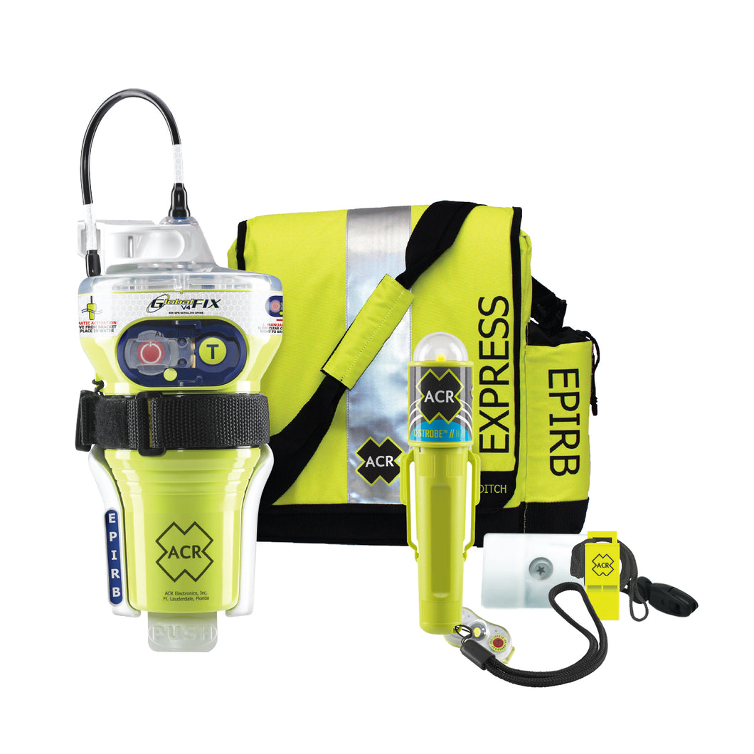ACR GlobalFix V4 Category 2 w/Rapid Ditch Bag, C-Strobe, H2O Signal, Mirror, Rescue Whistle Survival Kit [2348]
