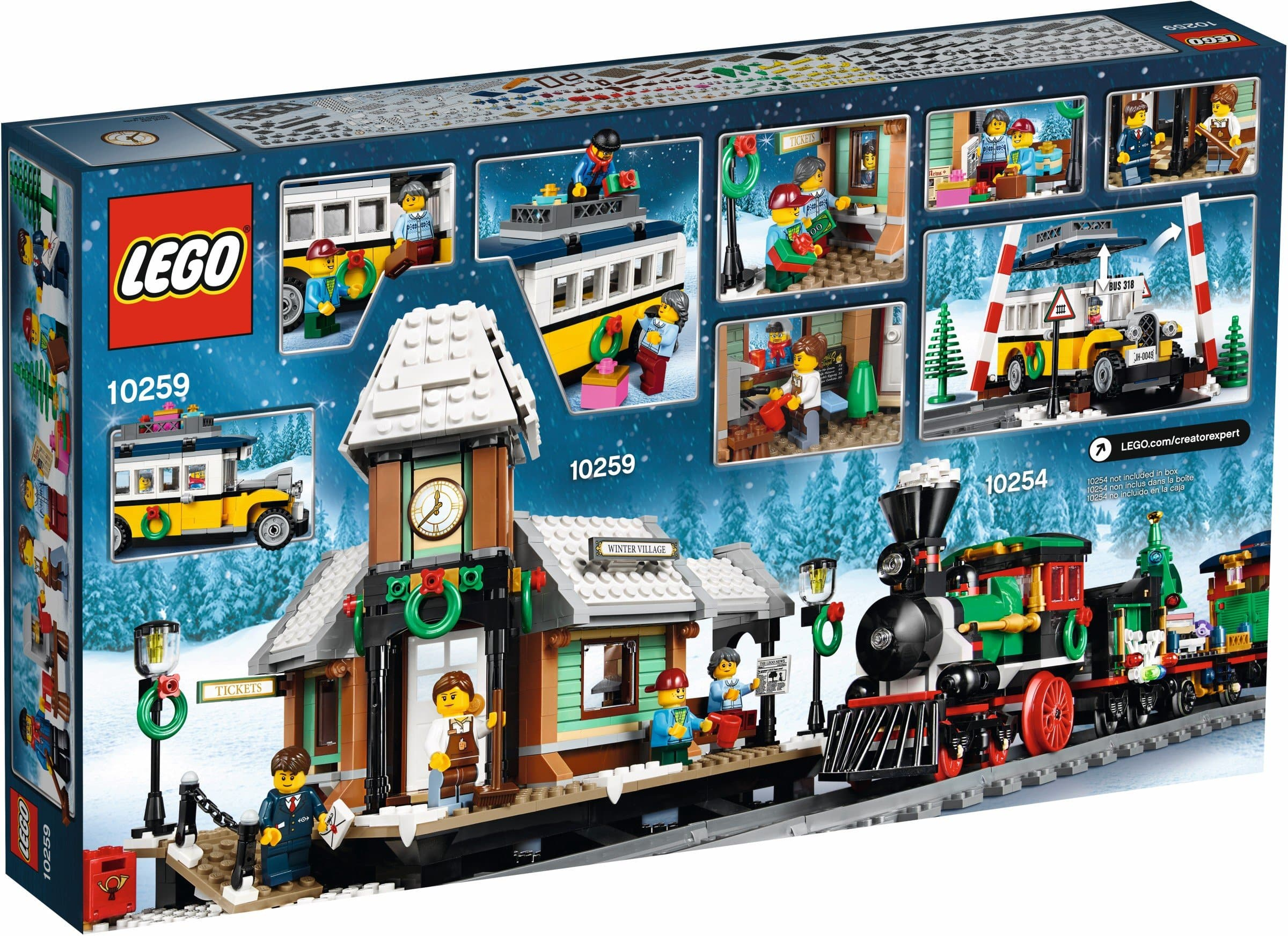 לגו 10259 Lego - תחנת רכבת חורפית freeshipping - TheBrick.co.il